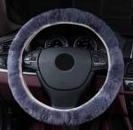 Steeringwheel faux fur Steering Wheel Cover Genuine Leather Cover NEW