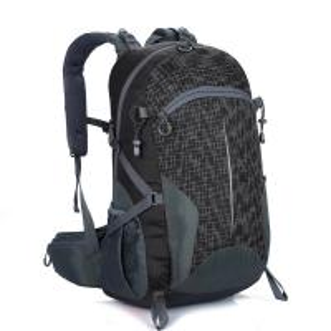 Free LOGO Lightweight Travel Backpack Black  40L Wear Resistant Waterproof