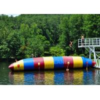 China Red / Blue / Green Inflatable Water Pillow Water Floating Launch Toy factory