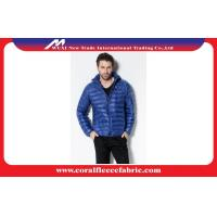 China Fashion Nylon Lightweight Puffer Hoodie Down Jacket for Men , Blue / Black factory