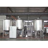 China Convenient Using 100bbl Large Scale Brewery Equipment PLC Control System factory