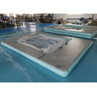 China Portable Anti-Jellyfish Inflatable Yacht Pool / Pontoon Water Pool, Inflatable Floating Ocean Sea Pool With Net factory