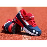 Suede Leather Kids Sports Shoes , Little Boys Running Shoes With Magic Strap