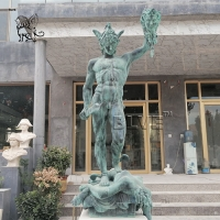 China bronze perseus with the head of medusa statues life size greek sculpture factory