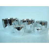 Buy cheap Silver Electroplated Ceramic Flower Pots For Plants Indoor 15.1 X 15.1 X 14.5 Cm from Wholesalers