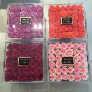 China Beautiful transparent acrylic flower box,custom made display acrylic flower box factory