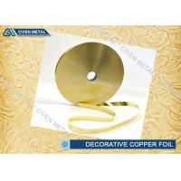 Buy cheap Rolled Brass Decorative Copper Foil With Ordinary Thickness 0.01mm , 0.012mm , 0.015mm from Wholesalers