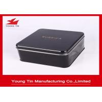 Square Metal Tinplate Chocolate Packaging Tin Boxes With Full Color Printing Shiny Finish