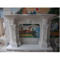 Buy cheap Freestanding Arched Stone Fireplaces Carving Flowers from Wholesalers