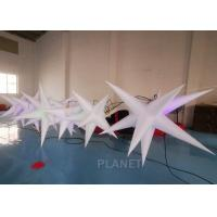 China Oxford Cloth LED Inflatable Star With Color Light For Event Decoration factory