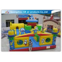 China Interesting Happy Family Inflatable Fun City Park Blow Up Bouncy Castle For Big Kids factory