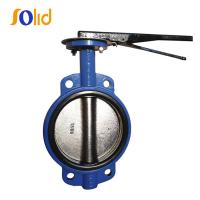 China PN10/16 Wafer Type Concentric Butterfly Valve with Lever Operator on sale