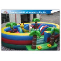 China Waterproof Round Blow Up Jumping Castle Bouncy Inflatable For Kids / Adults factory