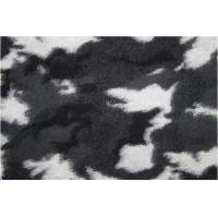China Camouflage Pattern Wool Jacquard Fabric With Black White Color factory