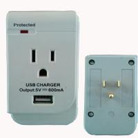 China US single outlet wall surge protector, ETL approved factory