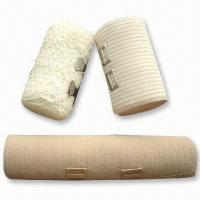 China Elastic Bandage for Medical and Daily Use, Available in Bleached White factory
