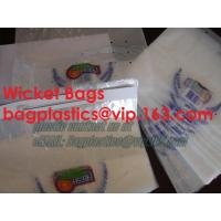 China wicketed bags, stapled bags, staple, wicketed poly bags,apparel bags, ice bag, apple bags factory