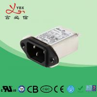 China 250V, 10A Single Phase IEC inlet socket Power entry Filter , Power Line EMI Filter Long Working Life factory