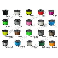 China PLA Plastic Filament 3D Print Material Vivid Colors , 1.75M / 3MM Filament Spool factory