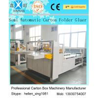 China Semi Auto Carton Folder Gluer Machine Die Cut Printing Machine 4kw factory