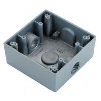 """China Square Watertight / Waterproof Electrical Box 1/2"""" 3/4"""" Size To Protect Conductors factory"""