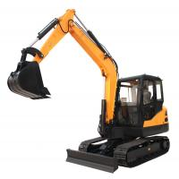 China China 6.5ton steel track digger cralwer excavator with Kubota engine on sale