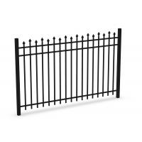 Buy cheap Top Flat Spear Steel Fence Panels 2100MM*2400MM Stain Black Powder Coated from Wholesalers