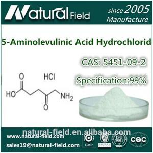 China Pharmaceutical grade 5-Aminolevulinic Acid HCl 5451-09-2 factory