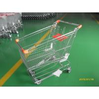 Buy cheap Retail Store Steel Wheeled Shopping Cart 180 L Basket Bottom Rack from Wholesalers
