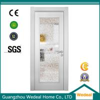 Quality Factory Supply White Wood Interior Panel Doors with Glass Panel for sale
