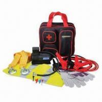 China Car Emergency Kit, Inckudes Air Compressor, Booster Cable, Bag and Safety Vest factory