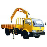 Durable Knuckle Boom Truck Mounted Crane, Wire Rope Raise And Down 3200 kg