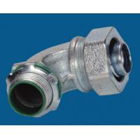 China Waterproof Malleable Iron Fittings 90 Degree Liquid Tight Connector Fire Resistance factory