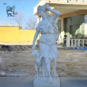 China White Marble Greek Goddess Artemis Sculpture Stone Goddess Of Hunting Statue factory