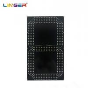 China 20 Inch Single Yellow 7 Segment Digit Board To Make Football Scoreboard factory