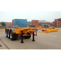 China Flatbed Shipping Container Delivery Trailer High Efficiency For Port Transport factory