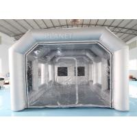 China 7x4x3m Carbon Filter Paint Inflatable Spray Booth / Portable Car Spray Booth Tent factory
