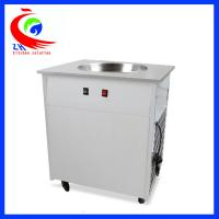 China Flat Pan Fried Ice Cream Roll Machine With single pan double pan factory