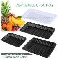 China PLA plate best selling prodcts, biodegradable PLA dinner plate for restaurant use, pla food box for meat factory
