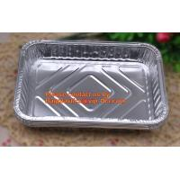 China extra-large disposable rectangle aluminium foil deli tray food foil container for takeaway food foil containers with lid factory