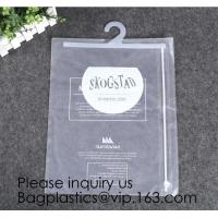 China Biodegradable Compostable pac Hanger Garment Underwear Clothes Package Hanging Hook Plastic Bag With Self-Adhesive Seal factory