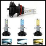 Buy cheap X3 Fanless 6000LM 50W  ZES H4 9004 9007 H13 hi/lo beam LED headlight Car Auto LED DRL fog head light bulb from Wholesalers