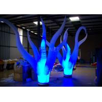 China Color Changing Inflatable Tree Durable 210 D Oxford Cloth For Event Decoration factory