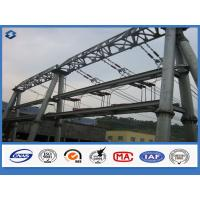 Buy cheap Hot dip Galvanized Overhead Line Substation Structure Electric Steel Pole from wholesalers