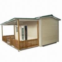 Buy cheap Prefabricated House with Bamboo Fence, Foldable Frame/Base and 6 Units Per 40ft HQ from Wholesalers