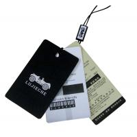 Buy cheap Light Recycle Paper Clothing Hang Tags , Offset Printing With Swign Drops from Wholesalers