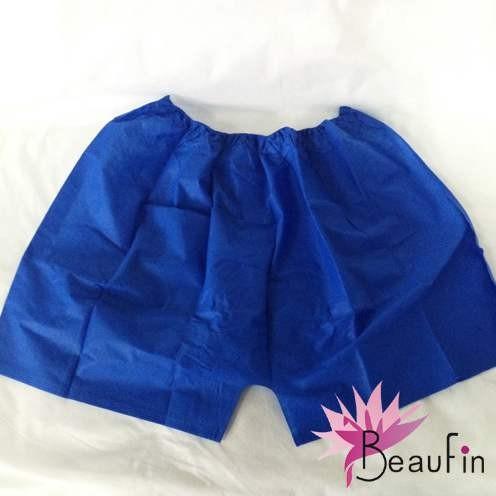 Cheap Disposable men boxer nonwoven pants Blue/black men nonwoven Disposable pants boxer for spa for sale