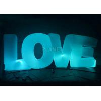 China Wedding Inflatable Lighting Decoration Love Led Letter Balloon For Stage factory