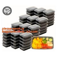 Buy cheap Food grade plastic disposable plastic take away bento box with 4 compartment,Containers Plastic Leakproof Food Container from Wholesalers