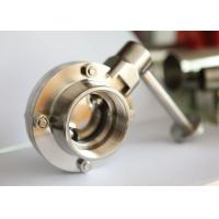 China Customized Fabrication Sanitary Butterfly Valves , Tri Clamp Butterfly Valve on sale
